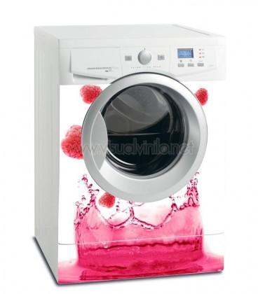 Vinilo lavadora ba o de frambuesas - Instalar lavadora en bano ...