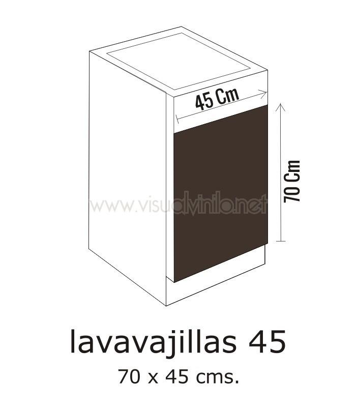 Vinilo lavavajillas frambuesas for Medidas de lavavajillas
