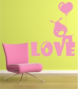 VINILO DECORATIVO PERRITO LOVE