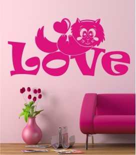 VINILO DECORATIVO GATITO LOVE