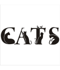VINILO DECORATIVO CATS