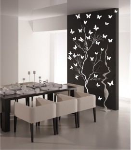 VINILO DECORATIVO ARBOL MARIPOSAS