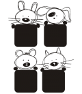 VINILO PARA INTERRUPTORES PACK DE 4 UNIDADES ANIMALITOS