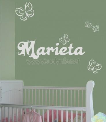 VINILO INFANTIL NOMBRE MARIPOSAS