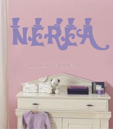 VINILO INFANTIL NOMBRE CHISTERAS