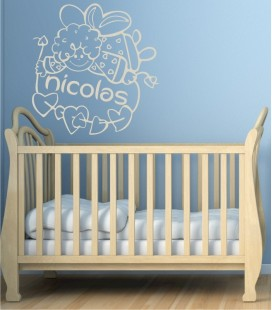 VINILO INFANTIL NOMBRE ANGELOTE