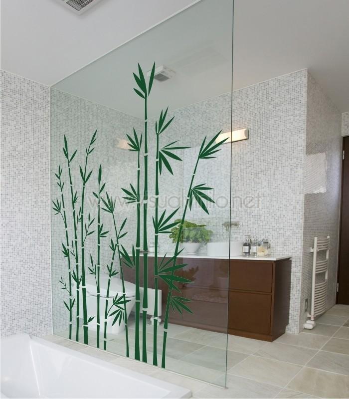 Vinilo decorativo para ba o bamb - Vinilo para el bano ...