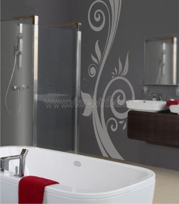 VINILO DECORATIVO PARA BAÑO ORNAMENTAL