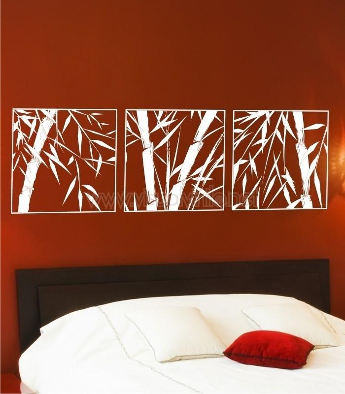 Vinilo decorativo cabecero cama bamb - Vinilos cabecera cama ...