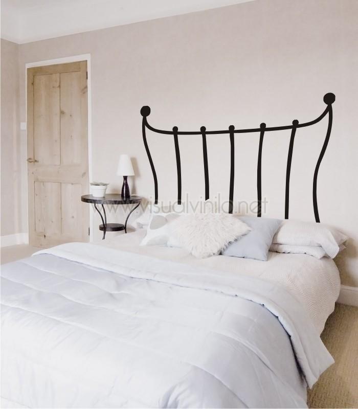 vinilo decorativo cabecero cama forja paris