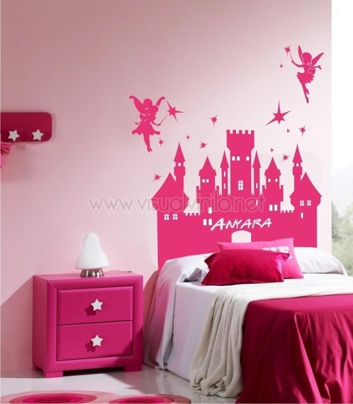 Vinilo decorativo cabecero cama infantil castillo for Vinilo cabecero cama