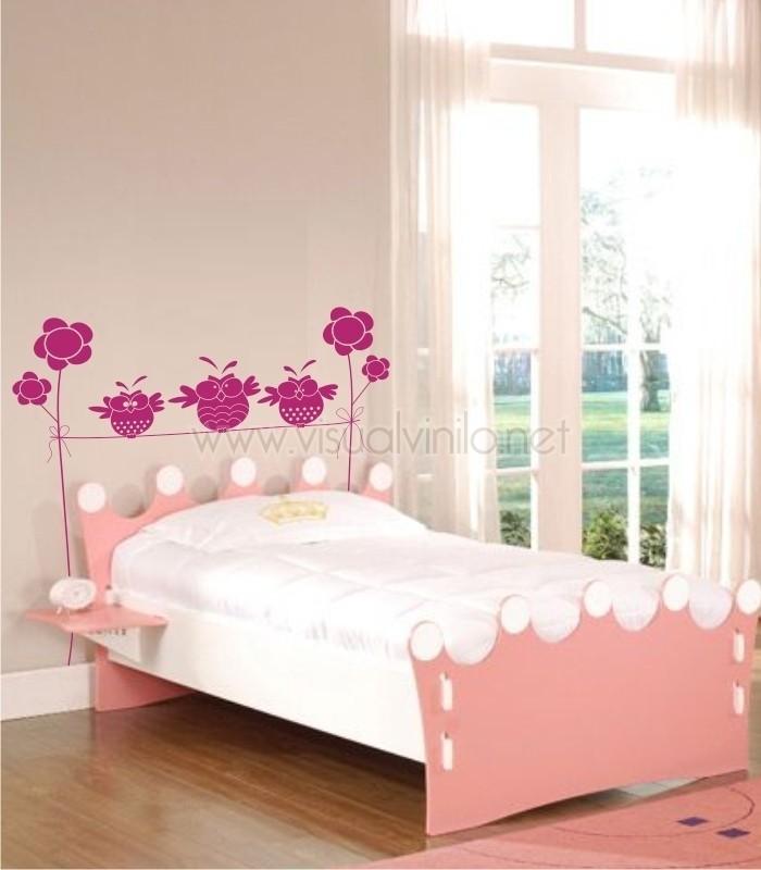 Vinilo decorativo cabecero cama infantil pollitos - Vinilo cabecero cama ...