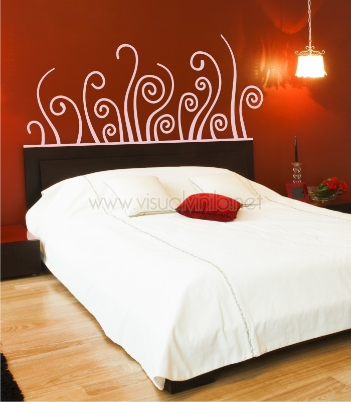 Vinilo decorativo cabecero cama forja holanda for Vinilos cabeceros