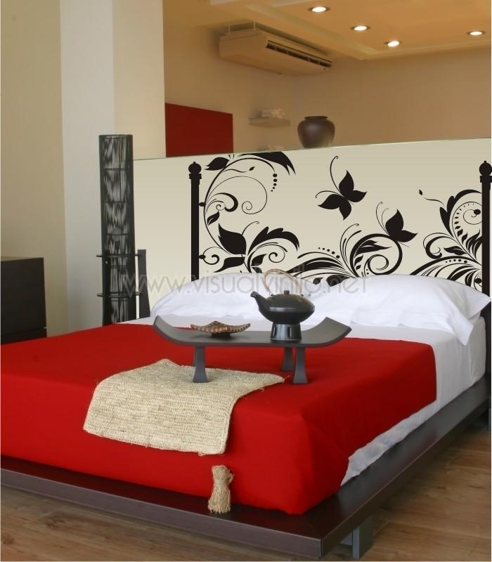 Vinilo decorativo cabecero cama forja budapest - Vinilos cabeceros de cama ...