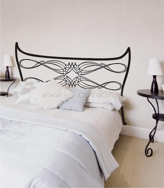 Vinilo decorativo cabecero cama forja lugo for Vinilos cabecero cama