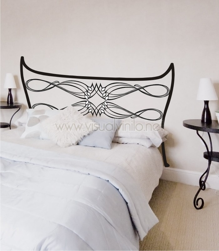 Vinilo decorativo cabecero cama forja lugo for Vinilo cabecero cama