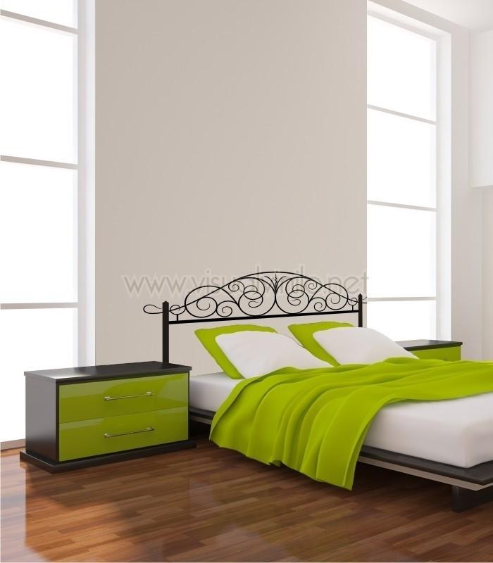 Vinilo decorativo cabecero cama forja cordoba - Vinilos decorativos cabecero ...