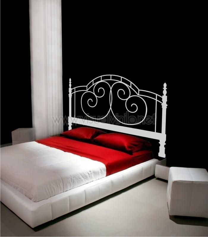 Vinilo decorativo cabecero cama forja oviedo for Vinilos cabecero cama