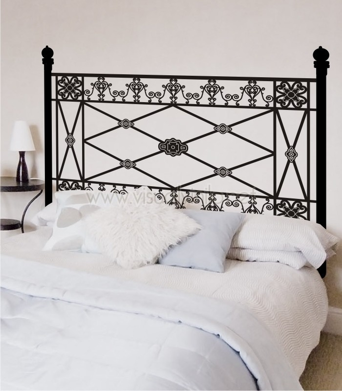 Vinilo decorativo cabecero cama forja santander - Vinilo cabecero cama ...