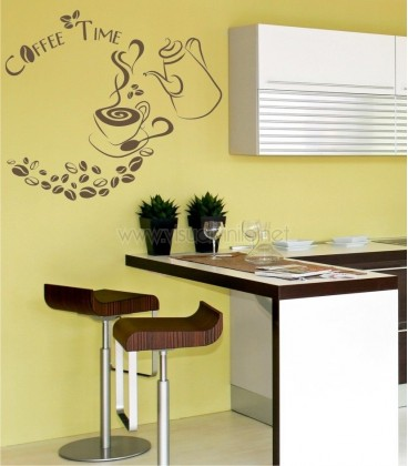 VINILO DECORATIVO COCINA COFFEE TIME
