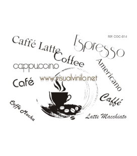 VINILO DECORATIVO COCINA TIPO DE CAFES