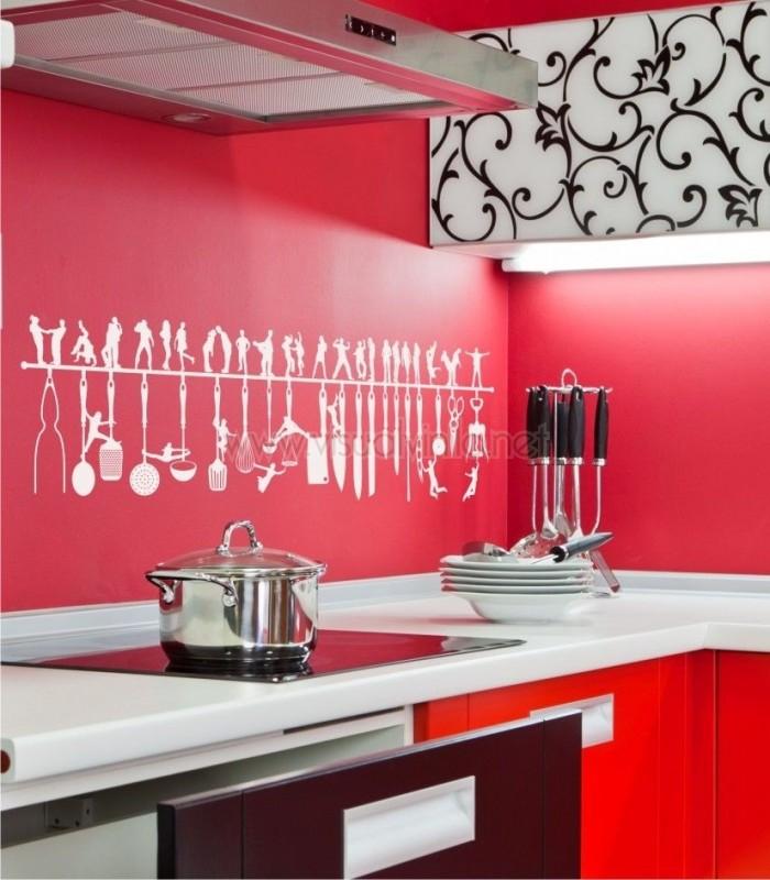 Vinilo cocina utensilios de cocina juveniles for Alfombras de vinilo para cocina