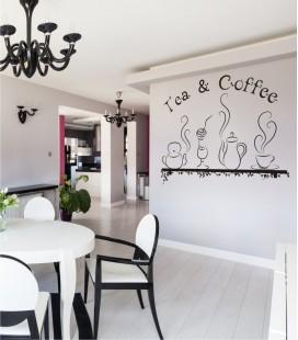 VINILO DECORATIVO COCINA CAFÉ Y TÉ