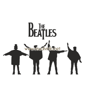VINILO DECORATIVO PERSONAJES THE BEATLES HELP