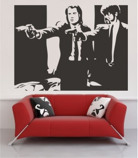 VINILO DECORATIVO PERSONAJES PULP FICTION