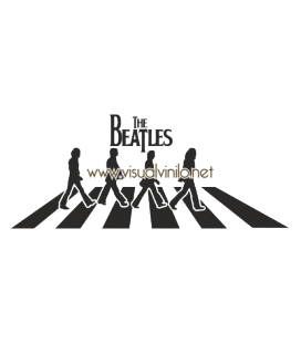 VINILO DECORATIVO PERSONAJES THE BEATLES ABBEY ROAD