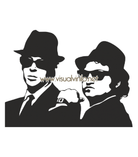 VINILO DECORATIVO PERSONAJES BLUES BROTHERS