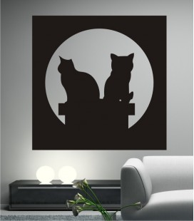 VINILO DECORATIVO GATOS