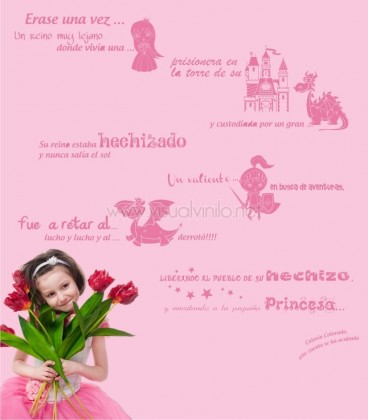 VINILO DECORATIVO INFANTIL CUENTO PRINCESA