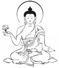 VINILO DECORATIVO BUDA MEDITACION