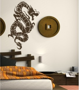 VINILO DECORATIVO DRAGON CHINO